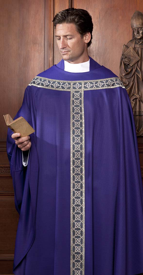 The Holy Rood Guild Chasubles Copes Aragon Chasuble Purple Liturgical Vestment For Priest Or Deacon
